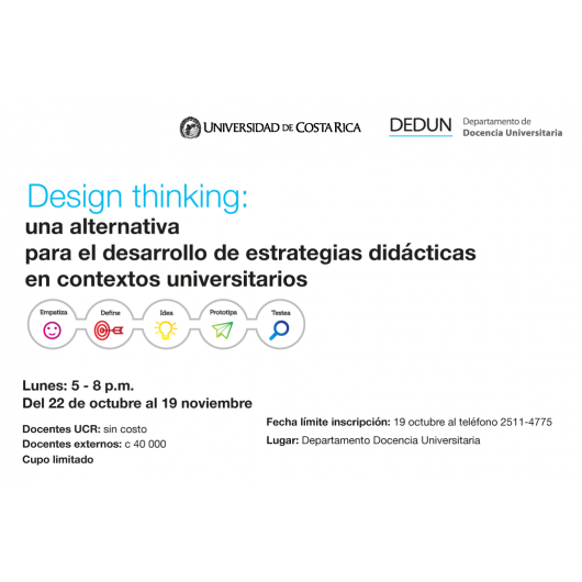 Design Thinking an alternative for the development of didactic strategies in university contexts