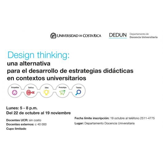 Design Thinking una alternativa para el desarrollo de estrategias didácticas en contextos  universitarios
